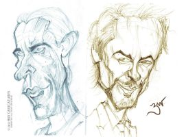 Bale Downey Jr. - Quick Caricatures by libran005