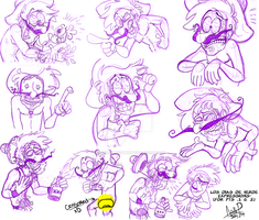 Los Dias_WIP Sketches by GreenDayComix