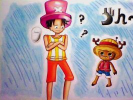 Request: Luffy and Chopper (for BubblySeahorse) by Angie-Crystal-Star