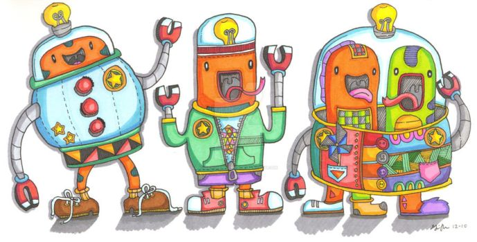 Robot Buddies by giangmunsterr