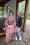 A photo with a visitor of the garden by Saiyachan