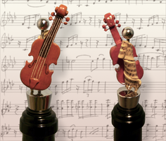 Violin Wine Stopper by pixipanda
