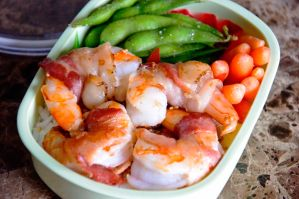 Bacon Wrapped Shrimp Bento by Demi-Plum