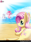 Mares on the Beach by CloudDG