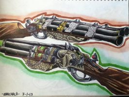 MOB OF THE DEAD Blundergat And Acid Gat by emichaca