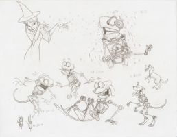 B.E.N. the Dog sketches by EarthGwee