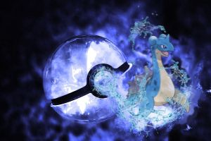 Lapras, Pokeball by KurB1