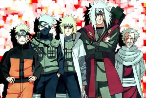 Naruto-Teachers and Students by 6DED9