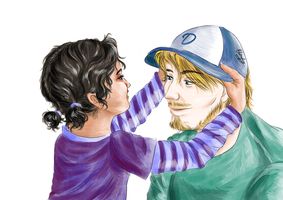PewDiePie and Clementine - The Walking Dead by Ebsie