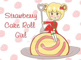 Strawberry Cake Roll Girl by patden09