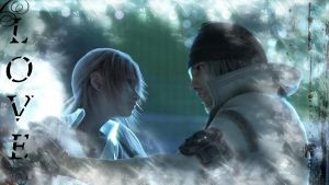 Snow and Serah wallpaper by Jesusfreak-kk