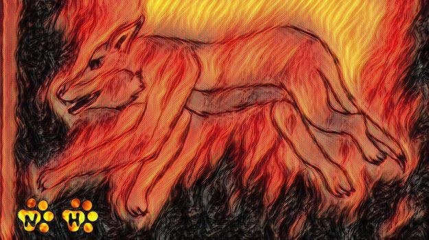 Falling Into Flames by Nightly-Howler