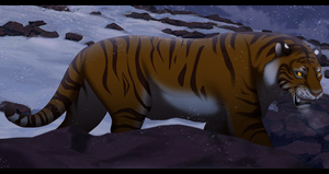 Semi Realistic Boris~ The Siberian Tiger by EyesInTheDark666
