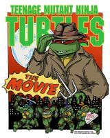 TMNT The Movie Raphael T-Shirt by ArseniyDubakov