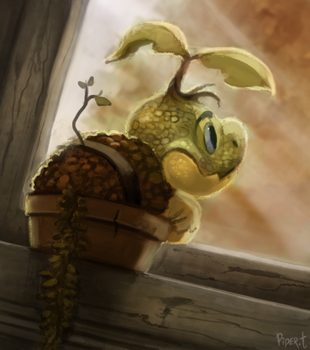 DAY 164. Turtwig (30 Minutes) by Cryptid-Creations