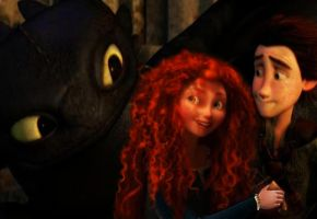 merida and hiccup by princess4everafter