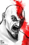 Kratos fan art by DoomCMYK