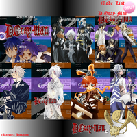 D.Gray-Man Osu! Menu Modes by Allen-WalkerDGrayMan
