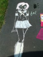 This is chalk art by teddy529