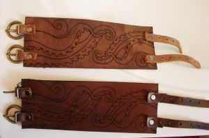 Ethed leather cuffs by missmonster