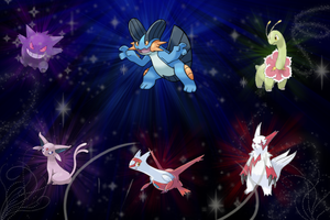 Pokemon Team Wallpaper by SlaveWolfy