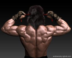 Rambo III - W.I.P.Back view by Andreevsky
