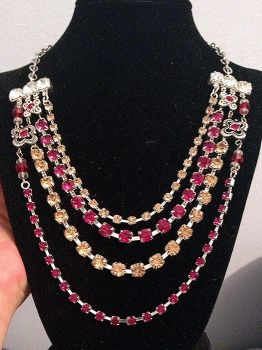 Fire and Gold Necklace by LunarBerry