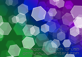 Hexagonal Bokeh Brush by GENAYNAY