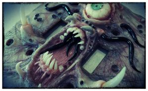 Green eye, tenticals and teeth.. by MorgansMutations