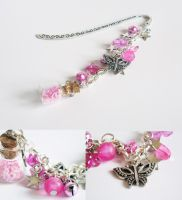 Bookmark - pink by FrozenNote