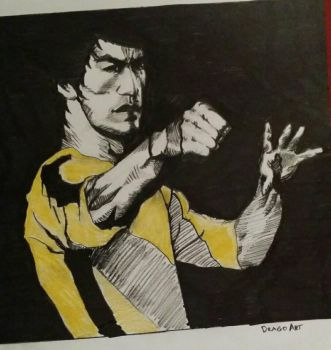 bruce lee by dragons74