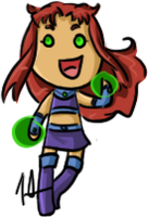 Teen Titans - Starfire by shrimp-pops