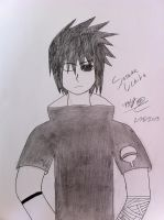 Sasuke Uchiha drawing by JustMiracleZ