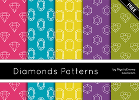 Diamonds Patterns by MysticEmma