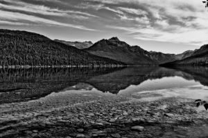 Bowman Lake Glacier Park by jeruley