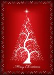 White Christmas Tree Card by derfs