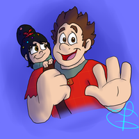 Ralph and Vanellope by Weevmo