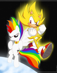 Commission Super Dash And Sonic by Domestic-hedgehog