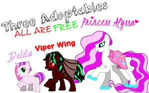 Pony Adoptables 4! CLOSED! by Torri11