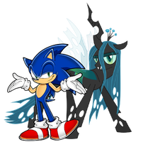 Sonic and Chryssi by MarioandSonicFan19