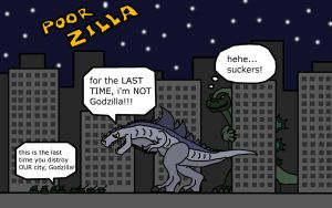 poor zilla by thescifiartist