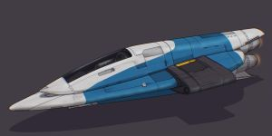 Star Wars Firespray-11 Class starship by AdamKop