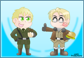 Burger Time! (England and America Hetalia request) by MarkProductions