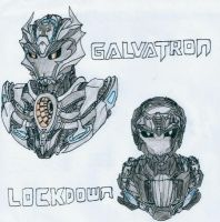Transformers: AoE-TFP Style Lockdown + Galvatron by Mystic2760