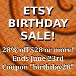 28th Birthday Etsy Sale by okapirose