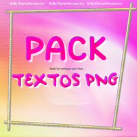 Pack Textos PNG | Mar by BellaThorneResources