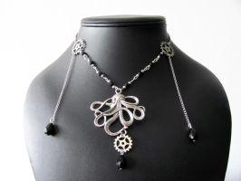 Steampunk Octopus Necklace by yinco