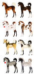 Horse Adoptables :OPEN: by Whitelupine