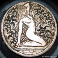 'The Lines Of Beauty' George 3rd Carved Penny by shaun750