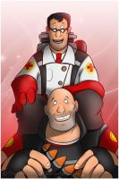 Heavy and Medic by RatchetMario